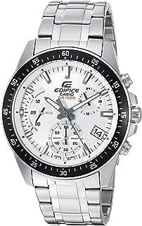 Men's Edifice Quartz Watch with Stainless-Steel Strap, Silver, 21.5 (Model: EFV-540D-7AVUDF)
