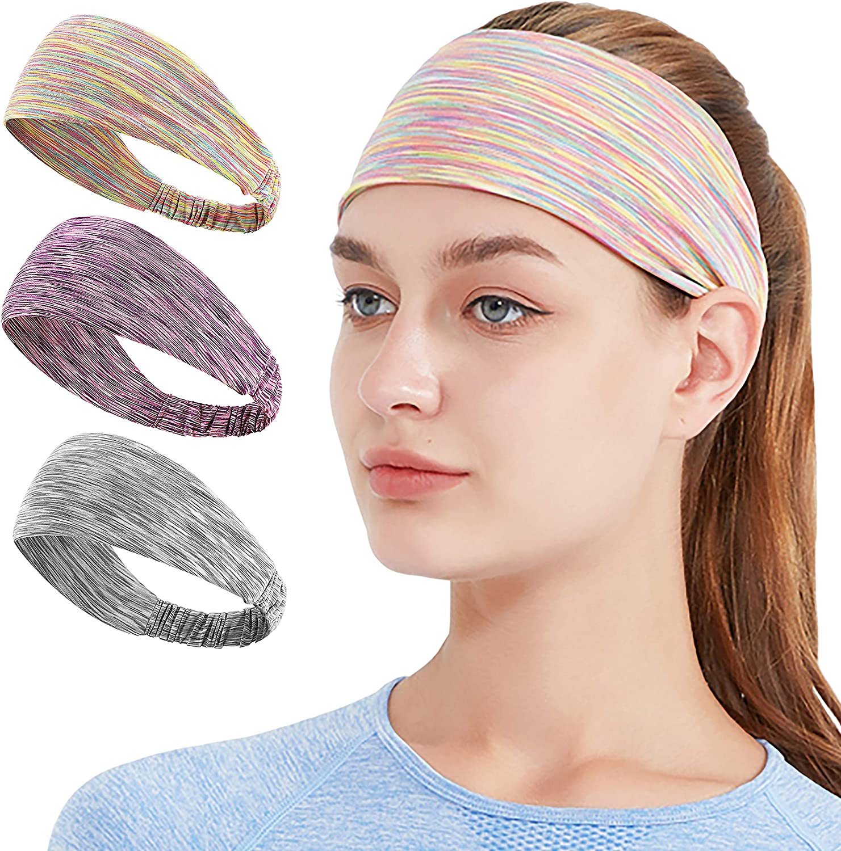 HiRui Max 72% OFF Headbands Recommendation Women Workout Sweatbands for Cycling Running Yog