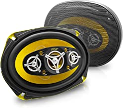 Car Eight Way Speaker System - Pro 6 x 9 Inch 500W 4 Ohm Mid Tweeter Component Audio Sound Speakers For Car Stereo w/ 120 ... photo