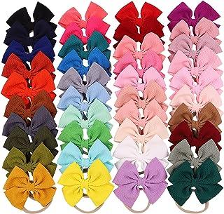 40 قطعة من ربطات الشعر للبنات الصغار من النايلون ربطة شعر مرنة إكسسوارات للشعر للأطفال الرضع والأطفال الصغار