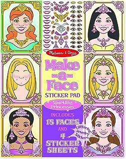Melissa & Doug Make-a-Face Sticker Pad: Sparkling Princesses - 15 Faces, 4 Sticker Sheets For Girls