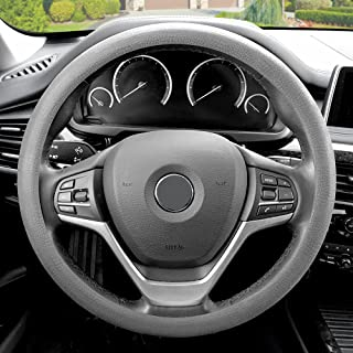 FH Group FH3001GRAY Gray Steering Wheel Cover (Silicone Snake Pattern Massaging grip in Color-Fit Most Car Truck Suv or Van)