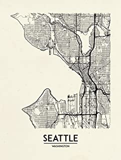 Inked and Screened Seattle - Street Map - Hand Made Screen Print - 18