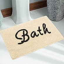 Saral Home Soft Cotton Regular Use Bathmat -45x70 cm, Ivory