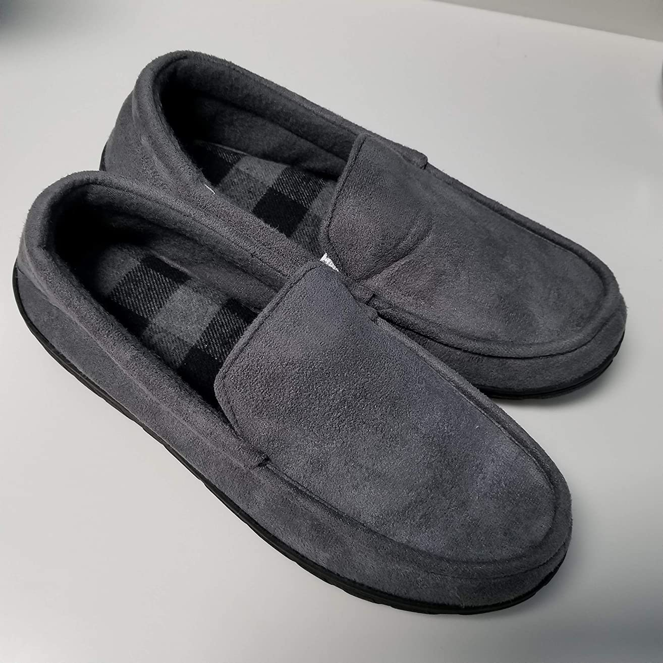 totes Toasties Men's Memory Foam Slippers (XL, Gray)