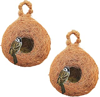 PetNest CR-4 SP Safest House Organic Bird Nest Purely Handmade Sparrow (Brown)-Set of 2