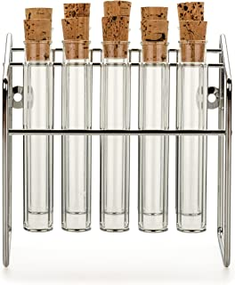 RSVP Spice Rack with Glass Spice Tube Set