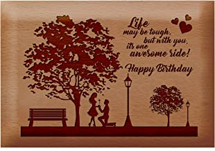 Presto Birthday Gift for Your Friend | Girlfriend | Brother | Father | Mother | Husband | Wife Laser Engraved Wooden Photo Frame (4 x 5 inch)