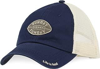 Life is Good A Soft Mesh Back Sunday Football Dstblu Hat,