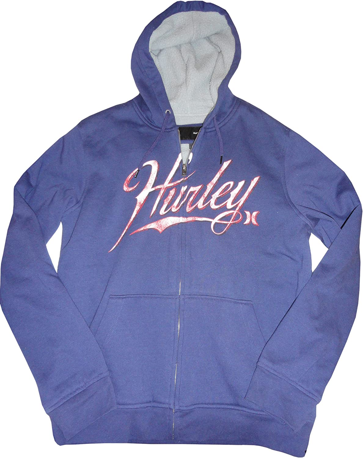 Hurley Young Men's Hooded Sweat Jacket Hoodie Outfield Size Medium Blue