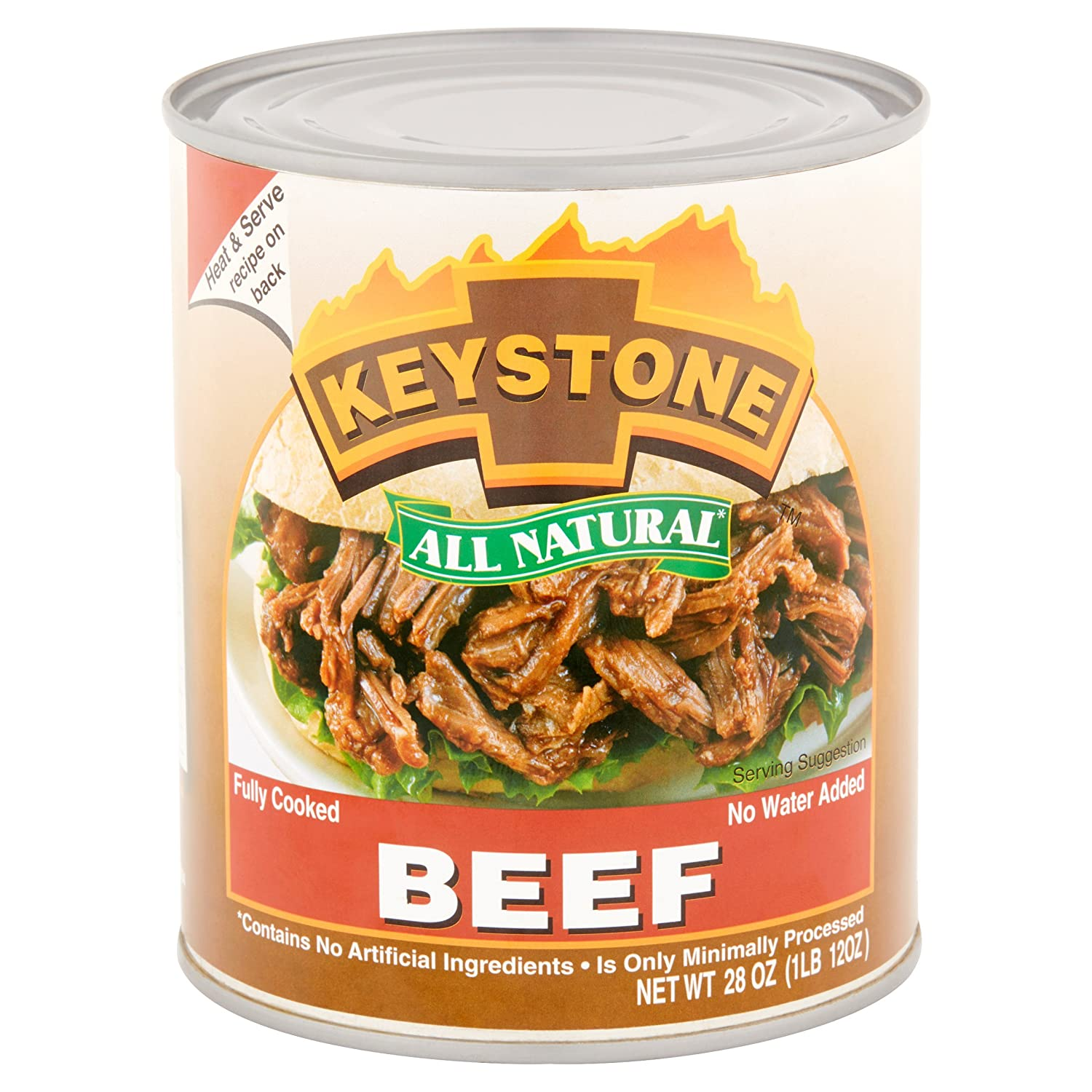 Amazon Com Keystone Meats All Natural Canned Beef 28 Ounce 6 Pack Grocery Gourmet Food