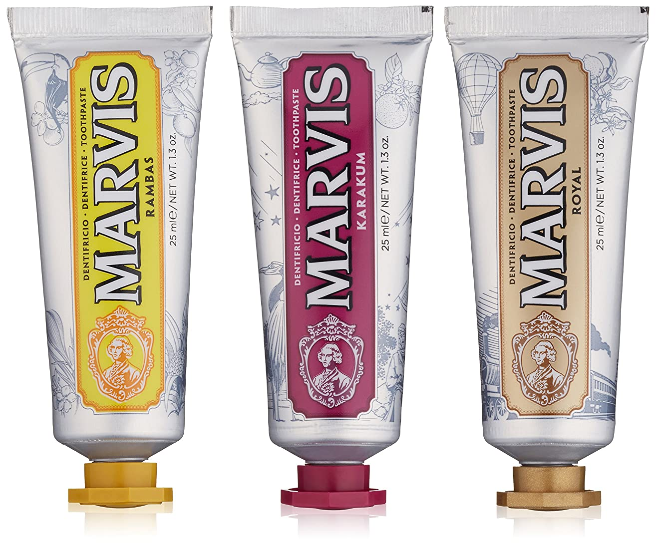 異なる馬鹿げたしわMARVIS(マービス) ワンダーズオブザワールド コレクション (歯みがき粉) 25ml x 3本