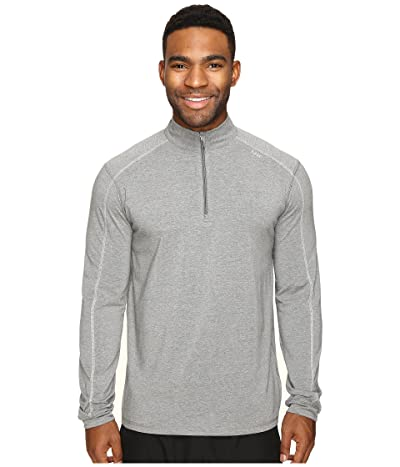 tasc Performance Carrollton 1/4 Zip (Heather Gray/Pale Gray) Men