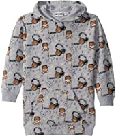 Moschino Kids - Hooded Dress w/ Music Toy Bear Print (Little Kids/Big Kids)