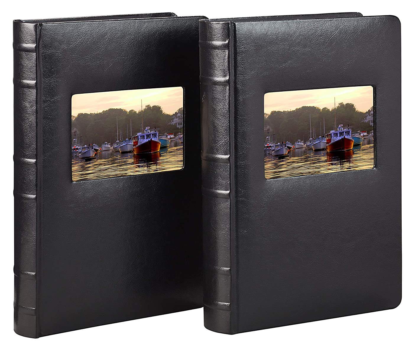 Old Town Bonded Leather Photo Album, 2 Pack (Black)