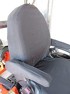 Durafit Seat Covers, KU06 Charcoal Gray Kubota Seat Covers for Tractor L3240, L3940, L4240, L5040, L5240, L5740 M Series Cab Tractors, BX 2370 U35 Excavator in Charcoal Gray Endura