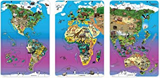 داولنغ مغناطيس الحيوان المغناطيسية المغناطيسي الحياة البرية خريطة لغز حزمة، مجموعة من 3 الألغاز: أمريكا الشمالية وأمريكا ا...