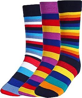 CREATURE Men's Cotton Calf Length 3 Multi Color Casual Socks Combo of 3(SCS-2901)