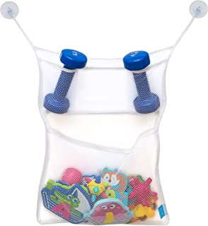 Mesh Bath Toy Organizer Set of 2 - Large Storage Net Bags - 4 Ultra Strong Suction Cups-Perfect Holder for Bathroom & Show...