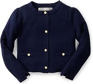 Hope & Henry Girls Milano Stitch Cardigan Sweater