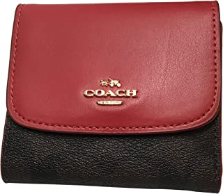 161ab169b727c Coach Signature PVC Small Wallet Brown True Red F87589