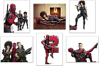 Deadpool 2 Poster Prints - Set of SIX 8x10 Wall Decor Glossy Photos - Marvel Superhero Ryan Reynolds Cable Domino