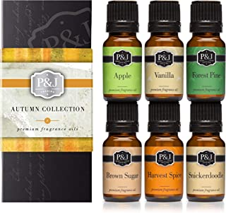 Autumn Set of 6 Premium Grade Fragrance Oils – Brown Sugar, Apple, Harvest Spice,..