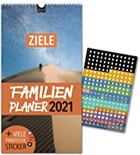 Familienplaner 2021 – ZIELE | 5 Spalten | Wandkalender: 23