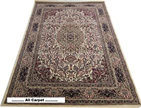 CARPETS HIGH QUALITY TRADITIONAL DESIGN WITH O.5 INCH PILE HIGHT 5.0 X 7.0 FEET ( 150X 200CM ) COLOR IVORY MULTI