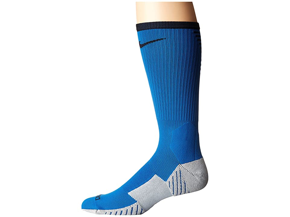 Nike Stadium Football Crew (Blue Jay/Black) Crew Cut Socks Shoes