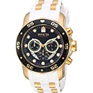 Invicta Men's Pro Diver Stainless Steel Quartz Watch with Silicone Strap, White, 1 (Model: 20289)