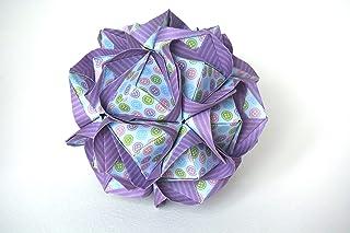 origami Clover Kusudama, 30 moduli lilla