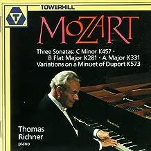 Mozart: 3 Sonatas (K. 457, K. 281, and K. 331); Variations on a Minuet of Duport, K. 573
