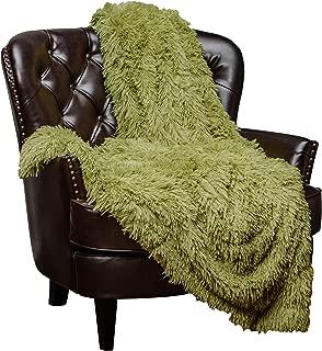 dark green fur throw