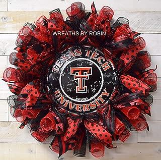 Texas Tech Wreath, Red Raiders Wreath, Sports Wreath, College Sports Wreath, 4015