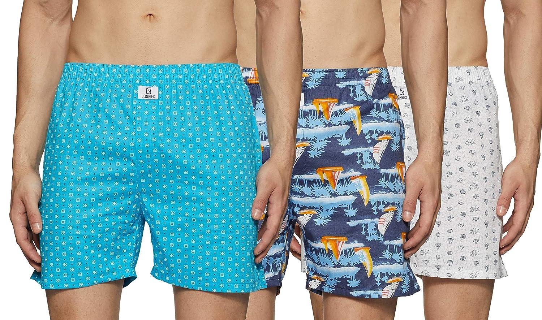 Longies Men's Pure Cotton Regular Printed Boxer Shorts