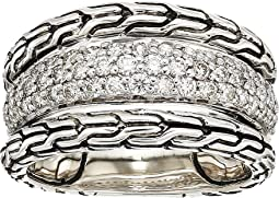 Classic Chain Diamond Pave Ring
