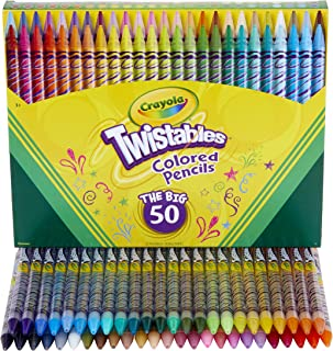 Crayola Twistables Colored Pencils Coloring Set, Gift Age 3+ - 50Count