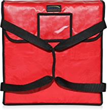 """New Star Foodservice 50073 Insulated Pizza Delivery Bag, 18"""" by 18"""" by 5"""", Red"""