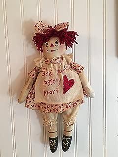 Primitive Raggedy Ann Folk Art Bless Your Heart Rag Doll