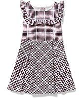Houndstooth Ponte Dress (Toddler/Little Kids/Big Kids)