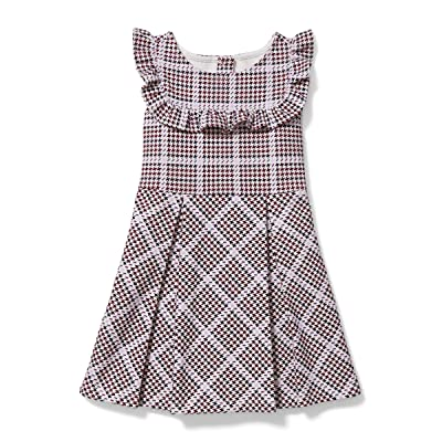 Janie and Jack Houndstooth Ponte Dress (Toddler/Little Kids/Big Kids) (Multi) Girl
