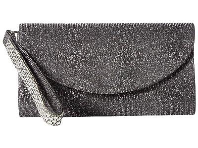 Jessica McClintock Vienna Clutch (Pewter) Clutch Handbags