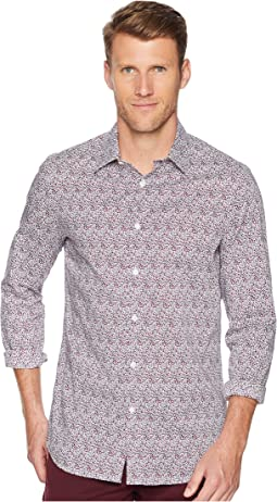 Slim Fit Print Stretch Shirt