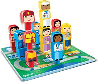 Learning Resources Peg Friends Around the Town, 28 Pieces