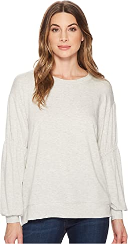 Michael Stars - Elevated French Terry Gathered Sleeve Sweatshirt
