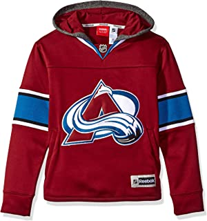 NHL Youth Boys 8-20 Avalanche Faceoff Jersey Hood, Xl(18), Burgundy