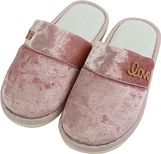 Komyufa Classic Simple Design House Slippers for Women Cozy Memory Foam Heel Opening Non-Slip Warm Bedroom Shoes Outdoor I...