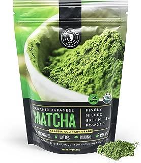 Jade Leaf Matcha Green Tea Powder - USDA Organic, Authentic Japanese Origin - Classic Culinary Grade (Smoothies, Lattes, Baking, Recipes) - Antioxidants, Energy [250g Super Value Size]