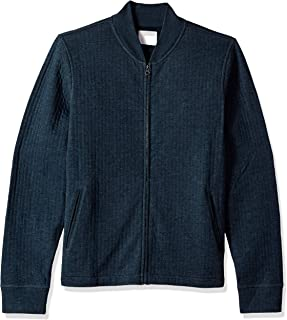 Billy Reid Men's Full Zip Giles Bomber Jacket with Elbow Patches